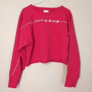 Rag & Bone Embroidered Cropped Pullover Sweatshirt
